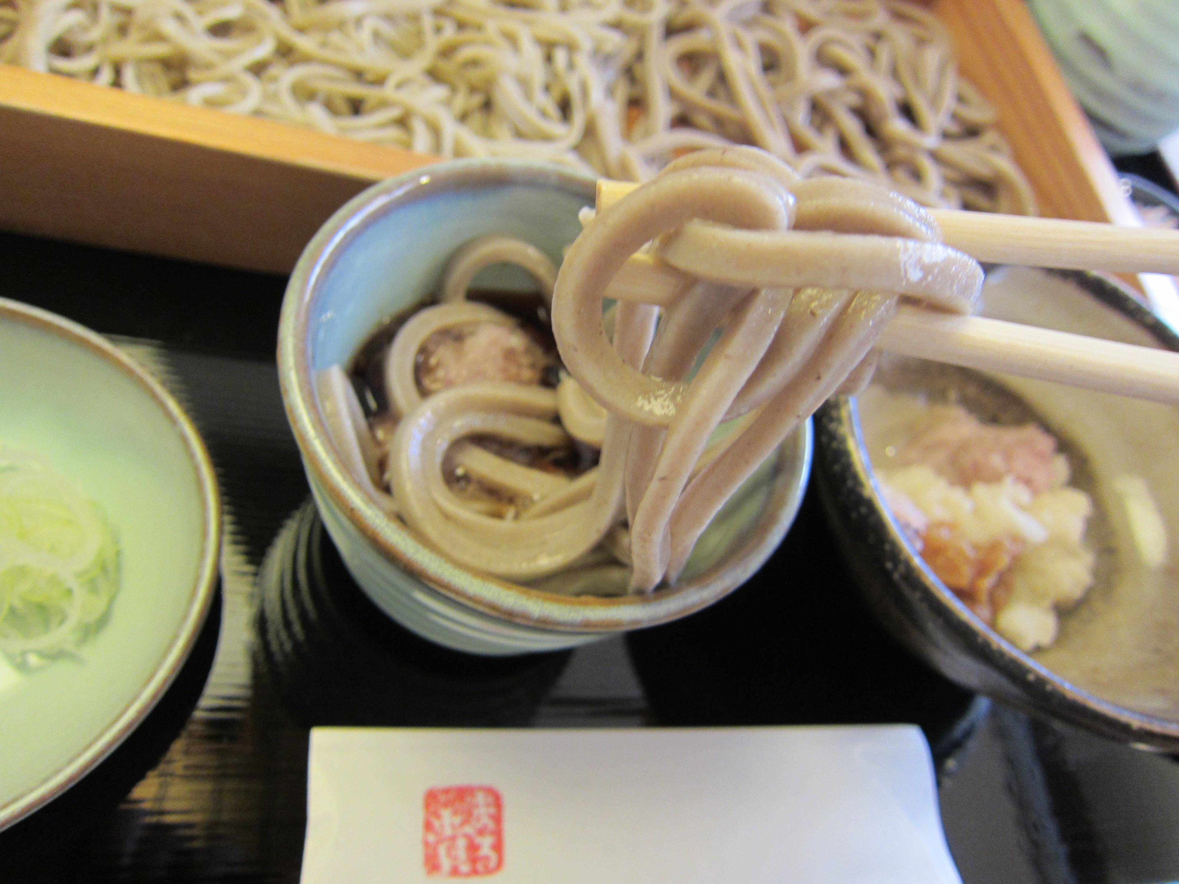 札幌市内『冷たい田舎蕎麦』